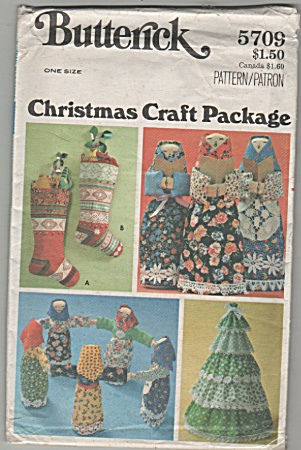 BUTTERICK~CHRISTMAS CRAFT PACKAGE~5709~OOP (Image1)