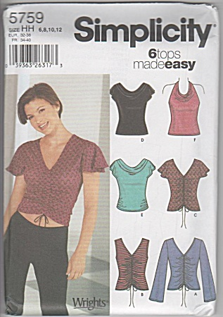 5759 - Stetch - Knit - Tops - 6-12 - Uncut - Oop