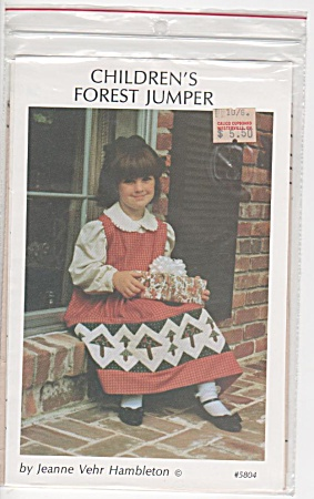 PINE TREE DESIGN~GIRL'S JUMPER~QUILTING~1988 (Image1)