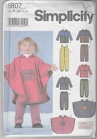 TODDLERS pattern 6m-4 PONCHO/JACKET/VEST/FLEE (Image1)