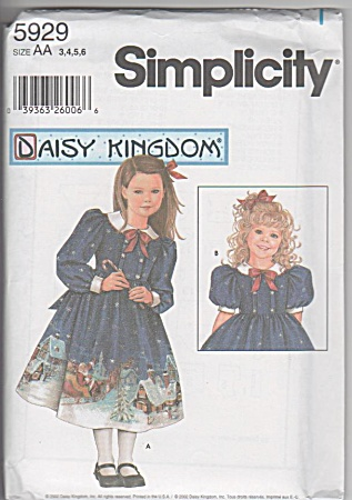 DAISY KINGDOM~CHILD~DOLL DRESS PATTERN~5929 (Image1)