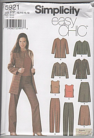 Simplicity - 5921 - Sz 12-18 - Jackets - Skirts - Tops -