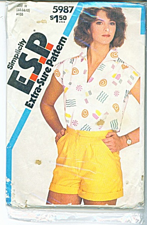 Simplicity 5987 Pullover Top & Shorts Pattern