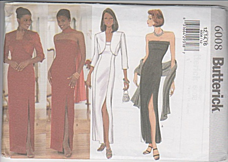 Butterick - Beautiful Formal Dress - 6008 - Oop