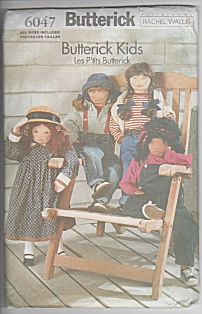 36inch Dolls - Butterick 6047 - 4 Views - Oop