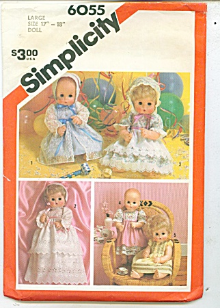 SIMPLICITY BABY DOLL WARDROBE LG 17-18 IN 605 (Image1)