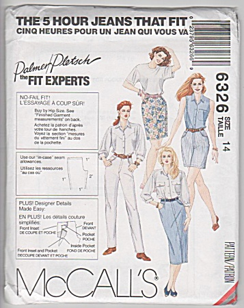 Jeans - Skirts That Fit - 5 Hour - Mccall's 6326 -