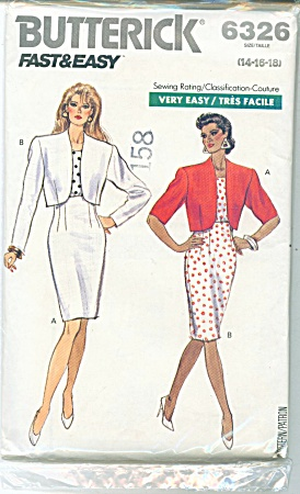 BUTTERICK FAST AND EASY DRESS 6326~14-16-18 (Image1)
