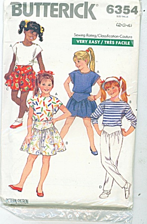 BUTTERICK 6354 VINTAGE GIRLS EASY COULTURE (Image1)