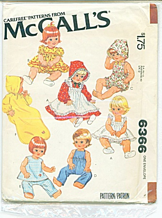 Mccalls Baby Doll Pattern 6366