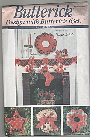 Butterick - Christmas - Crafts - 6380 - Oop