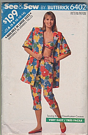 See & Sew By Butterick - Sz;a96-8-10-12-14) - Mi