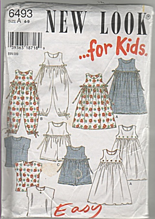 New Look - 6493 - Classic Girls Dresses - Tops - Oop