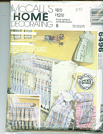 McCALLS LAYETTE PATTERN FOR BABY'S ROOM 6496 (Image1)