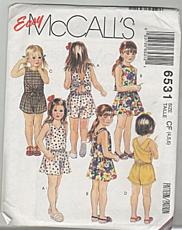 Mccall's - Sz4,5,6 - Hildrens Tops,short