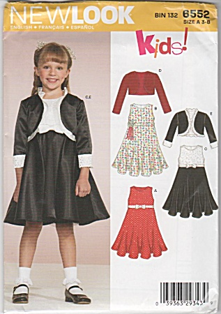 NEW LOOK~GIRLS DRESS~JACKET~SZ-A 3-8~UNCUT (Image1)