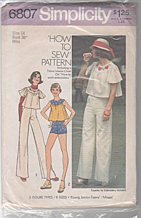 VINTAGE~CROP-TOP~PANTS~SHORTS~1974 (Image1)