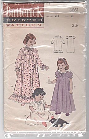 Vintage - Butterick - Sz 2 - Nightgowns