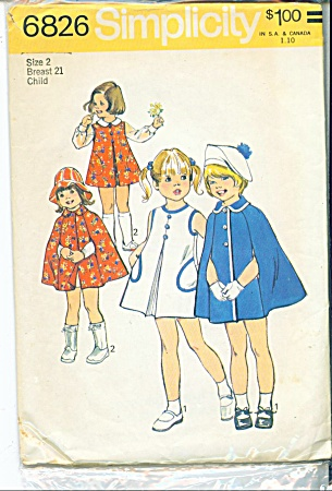 Vintage Pattern Childs Dress Jumper & Cape 19