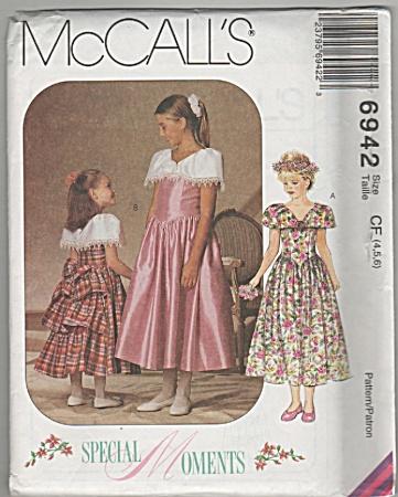McCALL6942~GIRLS ELEGANT DRESSES~SZ4-6~OOP (Image1)