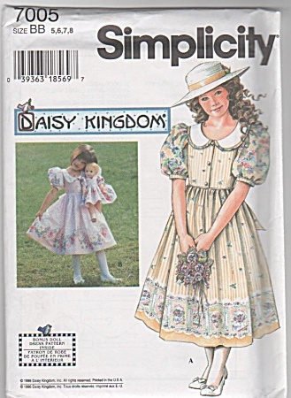 SIMPLICITY~DAISY KINGDOM~DRESS~SIZES 5-8~ (Image1)