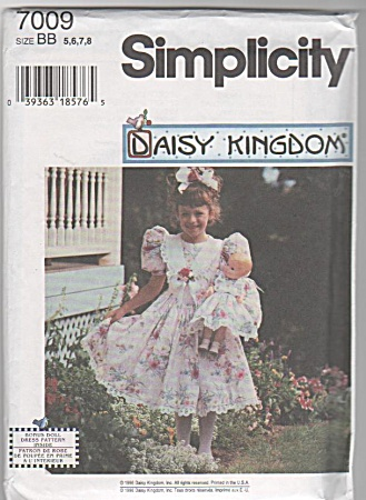 DAISY KINGDOM~GIRL~DOLL~DRESS PATTERN~NEW (Image1)