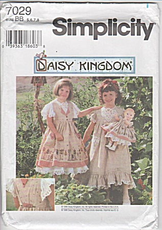 DAISY KINGDOM~DRESS STYLES~DOLL DRESS~SZ 5-8 (Image1)