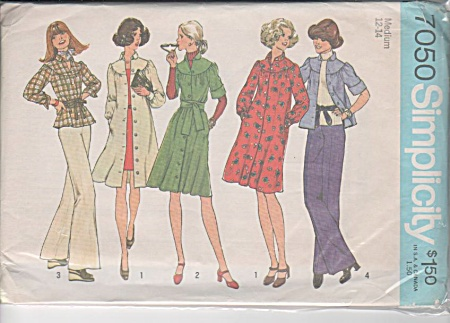 Simplicity Pattern 7050 Ms12-14 Yoked Dress O (Image1)