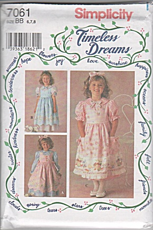 Timeless Dreams - Dress - Pinafore - Uncut - Sz 6-7-8