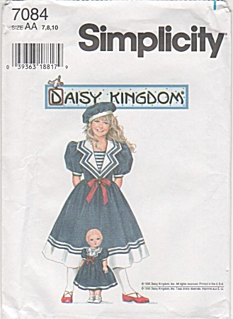 DAISY KINGDOM~SAILOR DRESSES~SZ 7-10~UNCUT~ (Image1)
