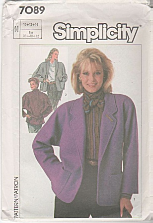 Simplicity 7089 - Lined Jacket Shawl Collar