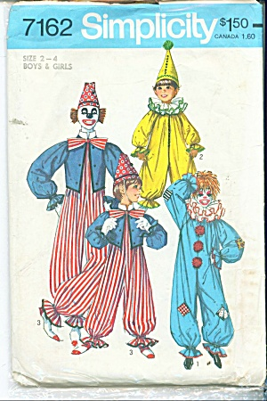 VINTAGE 1975 CLOWN COSTUME 7162 (Image1)