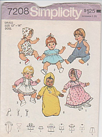 VINTAGE~BABY DOLL PATTERN~SMALL~ORIGINAL (Image1)