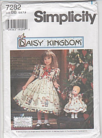 Daisy Kingdom - Sz 5-6-7-8 - 7282 - New - Girl-doll