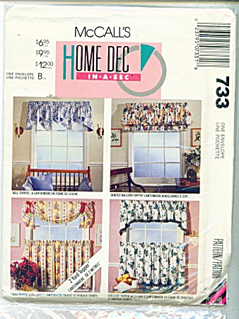 McCALLS WINDOW TREATMENTS 733 (Image1)