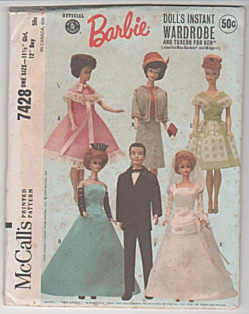 Vintage - Original - Barbie - Ken - Pattern - 1964