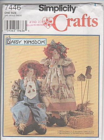 Daisy Kingdom - 24 In Dolls - Simplicity 7446 - Uc