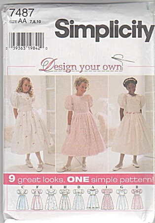 VINTAGE~DESIGN Your own Dress~SZ 7-8-10 (Image1)