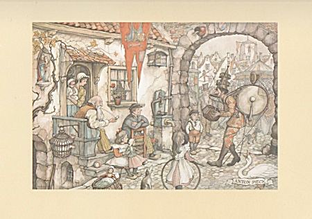 Vintage - 1972 - Anton Pieck - One Man Band Print