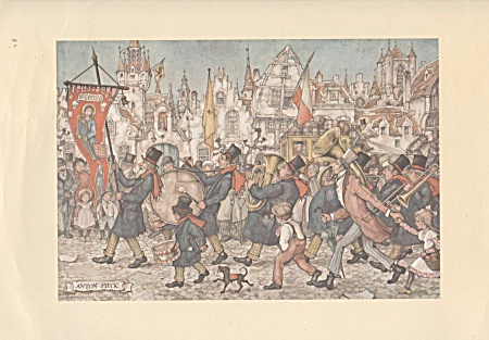 Vintage - 1972 - Anton Pieck - Village Parade -