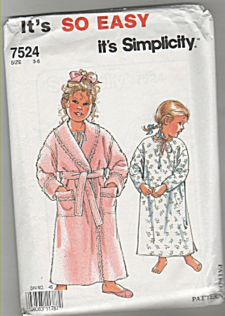 Simplicity So Easy - Sz 3-8 -children's Robe - 7