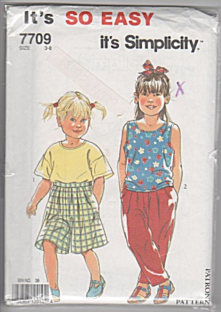 Simplicity - 7709 - Girls Separates - Sz 3-8 - New