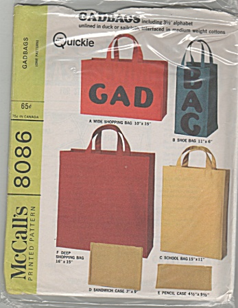 Mccall's - Sz; Listed - Gadbags - 8086