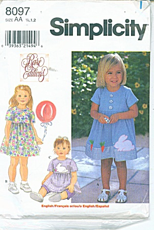 Rare Editions Toddler Dress and Cropped Pants (Image1)