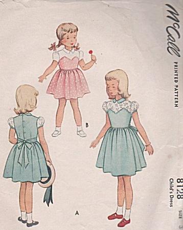 1950 vintage pattern Bra styled bodice DRESS (Image1)