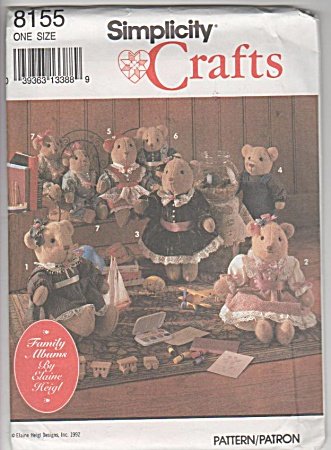 Vintage - 3 Size Bears - Clothes - Oop - 1992