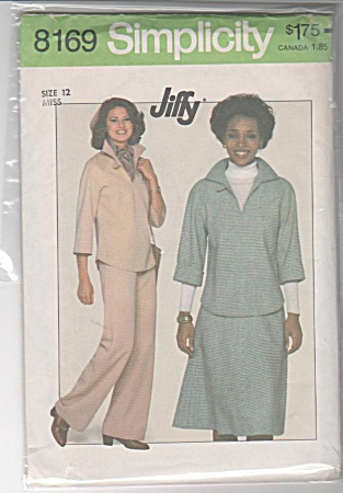 Vintage - Simplicity - Top - Skirt - Pants - Uncut - 8169