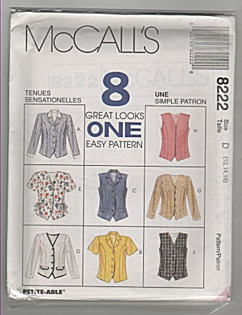 Vintage - Mccall's - Sz12-16 - 8 Great Looks-oop