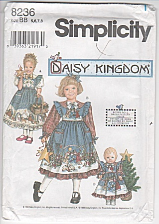 Daisy Kingdom - Bonus Doll Dress - Sz 5-8 - Oop
