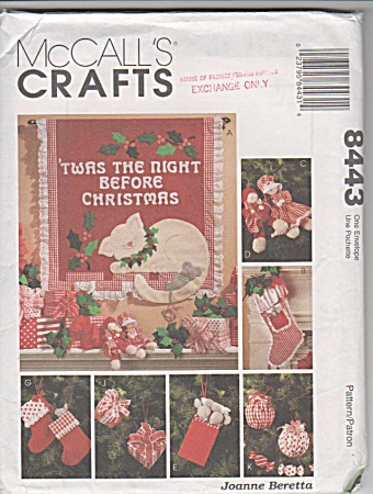 Vintage - Mccalls - 8443 - Night B4 Christmas - Oop